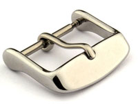 Polished Silver-Coloured Stainless Steel Standard Watch Strap Buckle 26mm