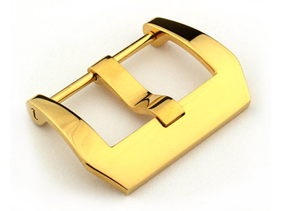 26mm Yellow Gold Stainless Steel Trapezium Buckle fitted by Screw