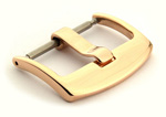 Polished Rose Gold-Coloured Stainless Steel Watch Strap Buckle BRD 01