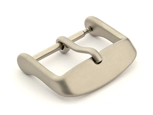 Matte Grey Stainless Steel Standard Watch Strap Buckle 16mm