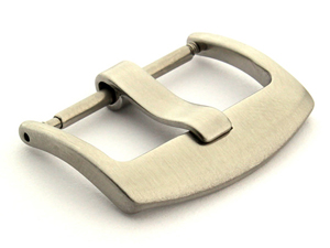 Brushed Silver-Coloured Stainless Steel Watch Strap Buckle BRD 18mm