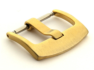 Brushed Yellow Gold-Coloured Stainless Steel Watch Strap Buckle BRD 20mm