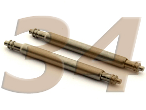 10 x Telescopic Ss. Double Flange Spring Bar Diameter 1.50mm - Width 34mm