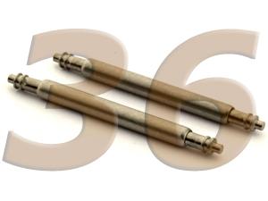 10 x Telescopic Ss. Double Flange Spring Bar Diameter 1.50mm - Width 36mm