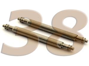 10 x Telescopic Ss. Double Flange Spring Bar Diameter 1.50mm - Width 38mm