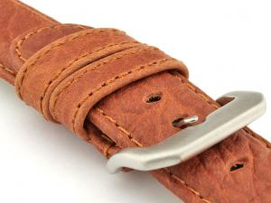 Genuine Buffalo Leather WATCH STRAP Bizon Brown/Brown 18mm