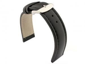 Genuine Leather WRISTWATCH STRAP Cavalier Black/Black 22mm