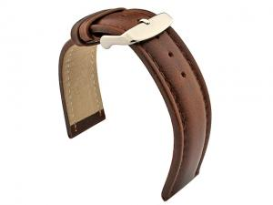 Genuine Leather WRISTWATCH STRAP Cavalier Dark Brown/Brown 20mm
