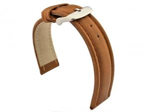 Genuine Leather WRISTWATCH STRAP Cavalier Brown/Brown 20mm