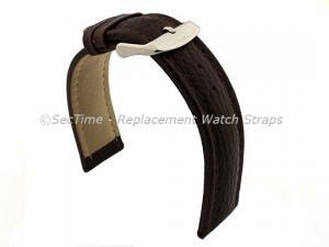 Watch Strap Band Freiburg RM Genuine Leather 28mm Dark Brown/Brown