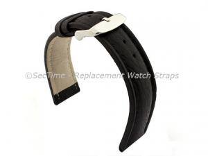 Watch Strap Band Freiburg RM Genuine Leather 20mm Black/Black