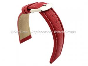 Watch Strap Band Freiburg RM Genuine Leather 22mm Red/White