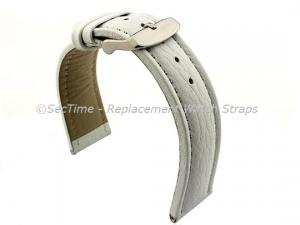 Watch Strap Band Freiburg RM Genuine Leather 18mm White/White