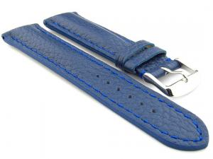 Padded Watch Strap Genuine Leather FREIBURG VIP Blue/Blue 18mm