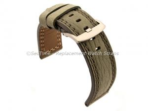 Waterproof Leather Watch Strap Galaxy Grey 20mm