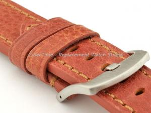 Replacement WATCH STRAP Luminor Genuine Leather Brown/Brown 24mm