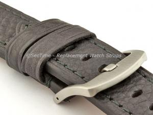 Replacement WATCH STRAP Luminor Genuine Leather Black/Black 24mm