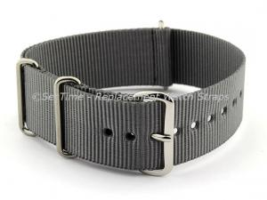 NATO G10 Watch Strap Military Nylon Divers (3 rings) Ash Grey 18mm