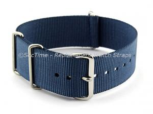 NATO G10 Watch Strap Military Nylon Divers (3 rings) Navy Blue 16mm