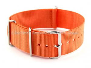 NATO G10 Watch Strap Military Nylon Divers (3 rings) Orange 16mm
