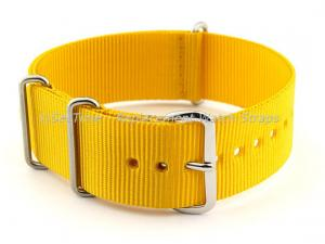 NATO G10 Watch Strap Military Nylon Divers (3 rings) Yellow 22mm