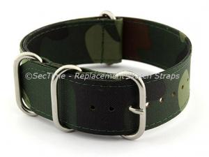 NATO G10 Watch Strap Military Nylon Divers (3 rings) Camouflage 24mm