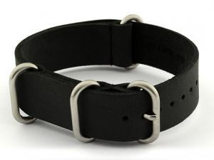 20mm Black - Genuine Leather Watch Strap / Band NATO VINTAGE, Military
