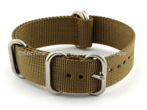 24mm Desert Tan - Nylon Watch Strap/Band Strong Heavy Duty (4/5 rings) Military