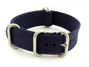 NATO Nylon Watch Strap Strong Heavy Duty (4/5 rings) Military Navy Blue 24mm