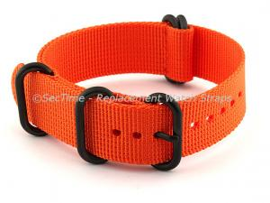 26mm Orange - Nato Nylon Watch Strap / Band Strong Heavy Duty (4/5 rings) PVD