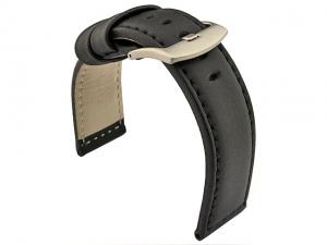 Genuine Leather Watch Strap PAN Black/Black 20mm
