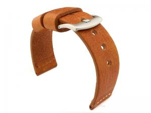 Genuine Leather Watch Strap RIVIERA RM Brown(Tan)/White 24mm