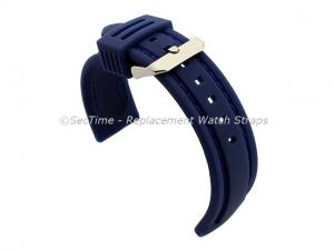 Silicon Rubber Waterproof Watch Strap Panor Blue / Blue 20mm