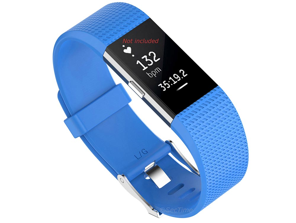 Replacement Silicone Watch Strap Band For Fitbit Charge 2 Sky Blue - Small