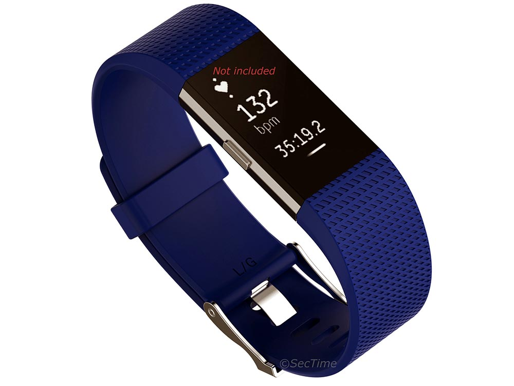Replacement Silicone Watch Strap Band For Fitbit Charge 2 Blue - Small