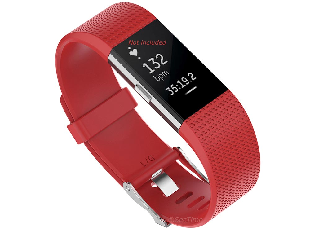 Replacement Silicone Watch Strap Band For Fitbit Charge 2 Orange-Red - Small