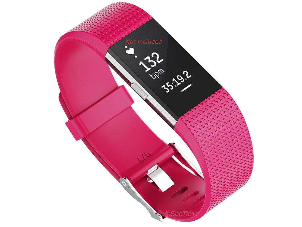 Replacement Silicone Watch Strap Band For Fitbit Charge 2 Raspberry - Small