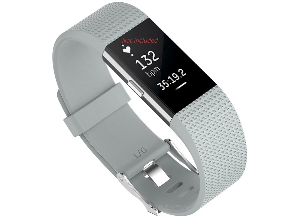Replacement Silicone Watch Strap Band For Fitbit Charge 2 Light Grey - Small