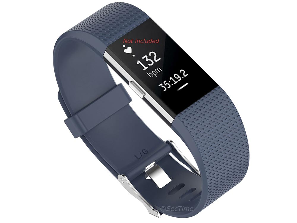 Replacement Silicone Watch Strap Band For Fitbit Charge 2 Slate - Small
