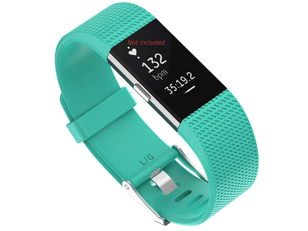 Replacement Silicone Watch Strap Band For Fitbit Charge 2 Turquoise - Small