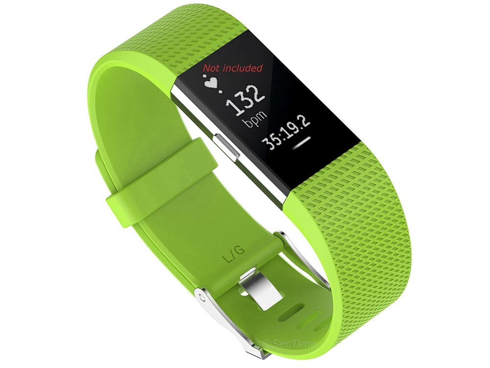 Replacement Silicone Watch Strap Band For Fitbit Charge 2 Green - Small