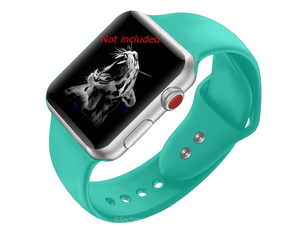 Silicone Watch Strap Band For iWatch 42mm/44mm Turquoise - Small - M1 - 02