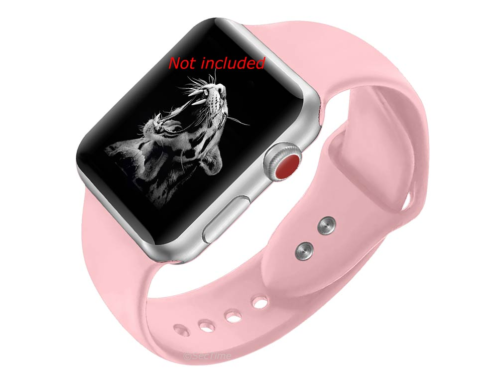 Silicone Watch Strap Band For iWatch 42mm/44mm Salmon - Large - M1 - 02