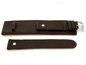 Watch Band with Wrist Cuff Leather Dakar Dark Brown 01 01