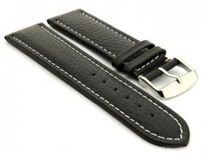 Extra Long Watch Band Freiburg  Black / White 28mm