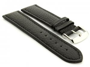Extra Long Watch Band Freiburg  Black / Black 26mm