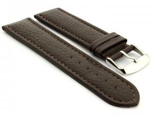 Extra Long Watch Band Freiburg  Dark Brown / Brown 20mm
