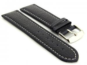Extra Long Watch Band Freiburg  Navy Blue / White 20mm