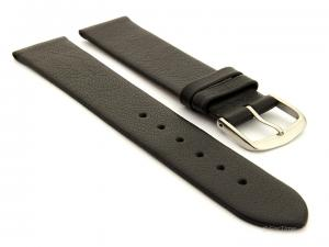 Genuine Leather Watch Band Madrid Black 19mm