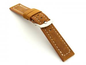 Leather Watch Band Panor Brown (Tan) 22mm
